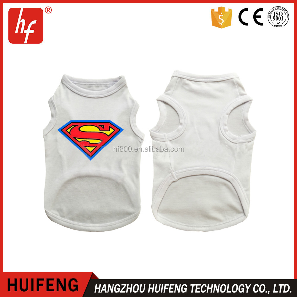 pet clothing sublimation blanks pet dog clothes for sublimation