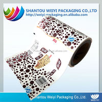 custom printed printing aluminum foil ice cream packaging bag laminated roll film for packaging machine