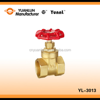 "China Durable 200WOG Brass YL-3013 Thread Standard 4"" Water Gate Valve"