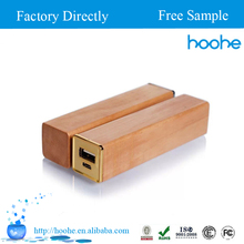 Unique Wooden power bank 2600mAh, mobile power supply, mobile phone power charger