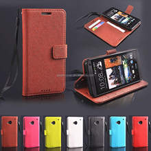 Colorful Wallet Case for HTC One M7 with stand good quality