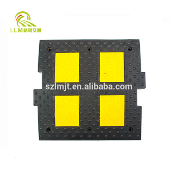 China traffic rubber speed bump, speed hump, road hump barrier for sale