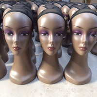 female wig display head and shoulders mannequin