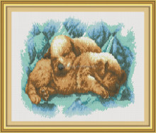 Animal design diy diamond painting embroidery kits with Russian package