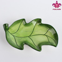 Ceramic Watermelon Leaf Plate with full handpainted