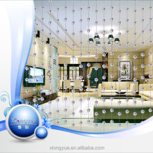 crystal bead curtain for door with stainless wire through