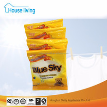 Private label brand names bluesky different types of China formula super bright laundry detergent washing powder in guangzhou
