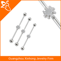 316L Unique Industrial Barbell Fashion Piercing Jewelry
