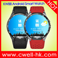 KW88 1.39 inch Round Screen Smart Watch Quad Core 3G WIFI Single SIM Card Android Smartwatch