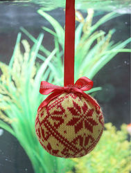 knitted christmas decoration ball