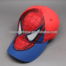 CUSTOM KID'S CAP CHILDREN CAP WITH SPIDER MAN FACE EMBROIDERY