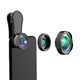 Wholesale new arrival universal clip macro wide angle fish eye phone camera clip-on 3 in 1 mobile lens