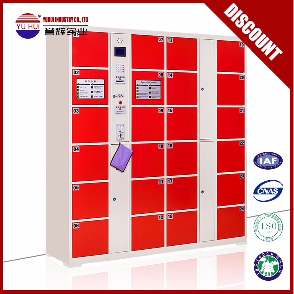 Luoyang factory coin operated steel locker steel storage cabinet for the public