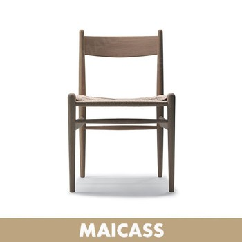 Luxurious dining room beech chair in sturdy paper cord