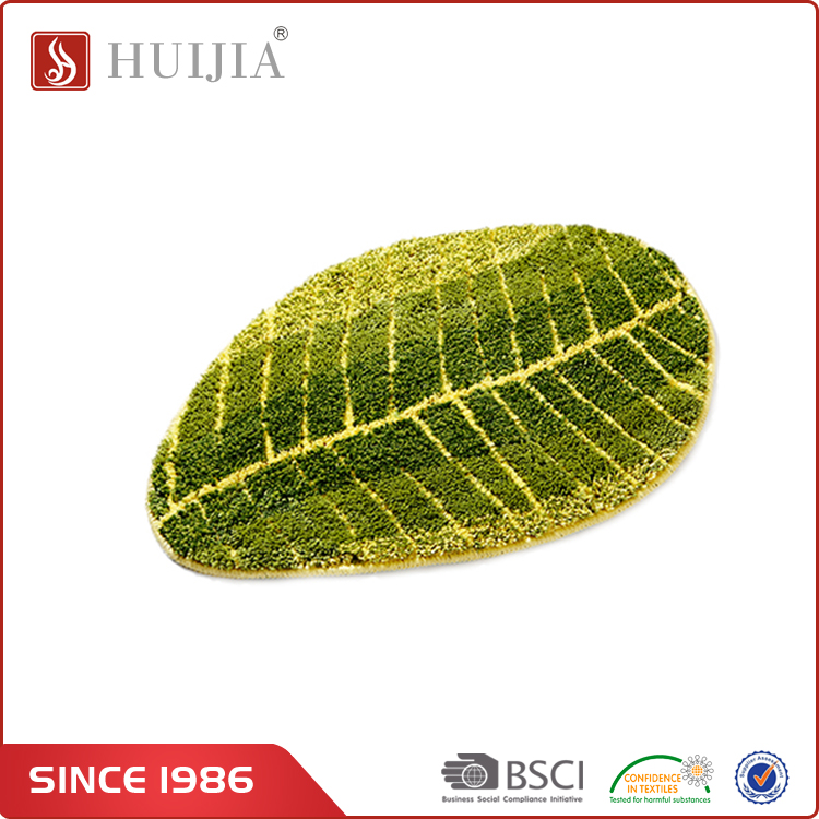 HUIJIA China Professional Manufacturer Colorful Leaves Shape Indoor Carpets And Rugs for Restaurant Entrance Mat