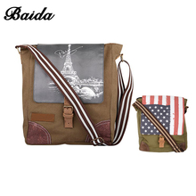 Small Canvas Shoulder Bag Messenger Bag Work Satchel Casual Bag For Men And Women