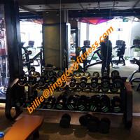 American style commercial strength equipment Fitnes ekipman Dumbell Rack JG-1602