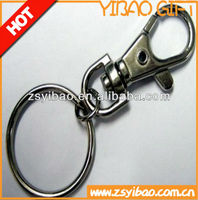 Excellent Quality Custom metal cheap keychains with o ring and lobster claw or any shape for promotion