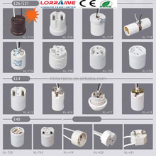 Good quality porcelain ceramic lamp holder E27 F519 lamp socket/screw style lamp base