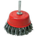 Knot cup brush for heavy duty cleaning