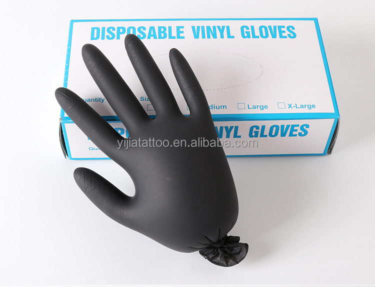 tattoo permanent makeup accessories black latex gloves