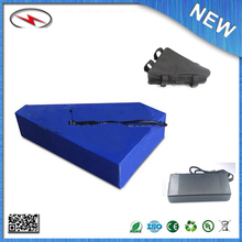 Triangle lithium electric bike battery 72v 20ah e bike battery with charger and triangle bag For Sanyo cell