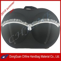 2015 Fashionable EVA Bra Bag Organizer Travel Lightweight Underwear Storage Bag Wholesale