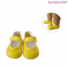 "Good looking pu made small 18"" adora doll shoes"