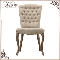 Tufted back french style beauty salon wooden furniture chair