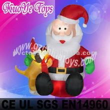 inflatable Christmas man, christmas moving santa, santa claus