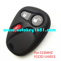 MS 3button remote control keyless entry remote 315mhz key for cadillac chevrolet LHJ011