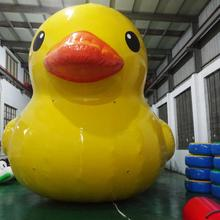 Giant PVC cartoon plush cute yellow buoy inflatable swim duck for sale