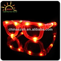 Assorted Cool Shades LED Flashing Hot Party Glasses for 2016 Hot Souvenir