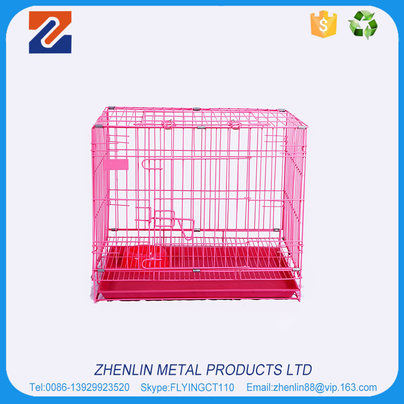 Factory price larger folding metal dog cage