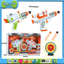 plastic foam soft bullet toy guns with target toy for kid