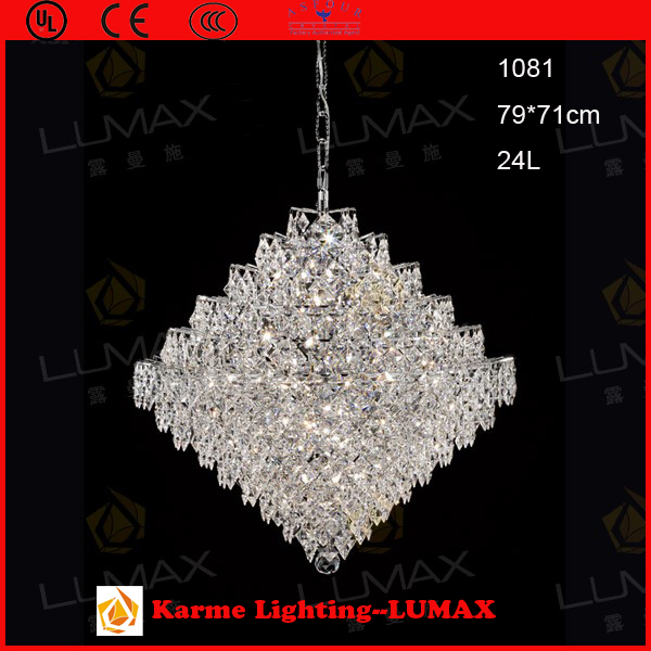 Karme Asfour Pure Crystal Lamp Pendant Light Modern Contemporary Style #1081