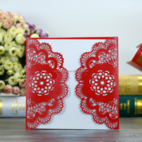 Chinese Shezhen Alibaba Sample Material Luxury Laser Cut Invitation Design Wedding Card For Wedding Decoration
