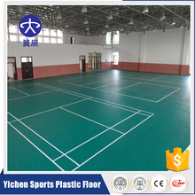 plastic flooring for standard size badminton court indoor or outdoor