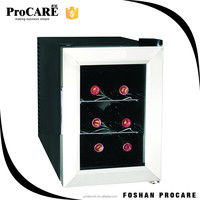 Unique state-of-the-art thermoelectric technology mini bottle wine cellar