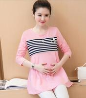 Z82422B korean style wholesale maternity breastfeeding clothes pregnant dress