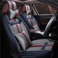 Luxury Leather + Liene Car Seat Covers DD-P2419