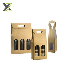 Wholesale Custom Cheap Recycled Decorate Luxury Branded Design Cardboard Paper Wine Bag