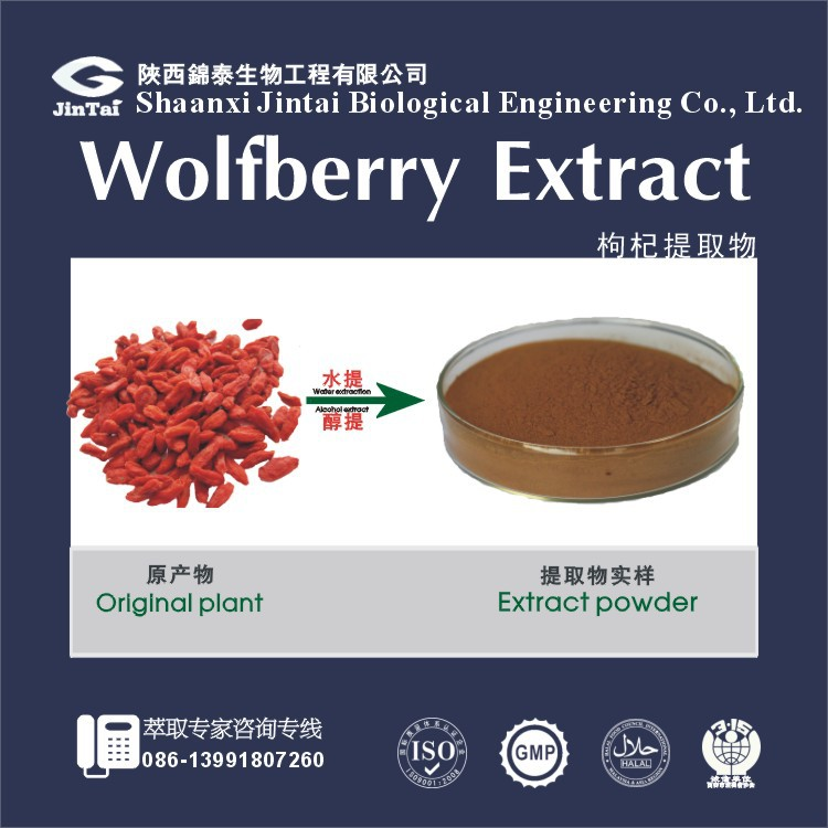 bulk goji berry extract powder 50% polysaccharide manufacturer