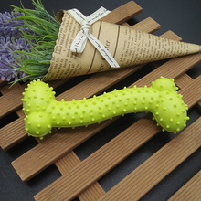 Resistant Bite Tpr Pet Dog/Cat Chew Toys Colorful Bone Chew Toys