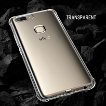 Rock Fence S mobile cell phone flexible clear soft TPU silicon dust resistance shockproof shell cover for Vivo x20 back case