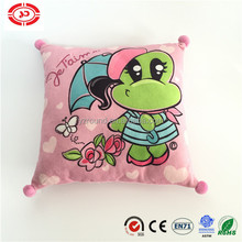 Mika rainy with with umbrella frog pattern on pillow cute soft cushion