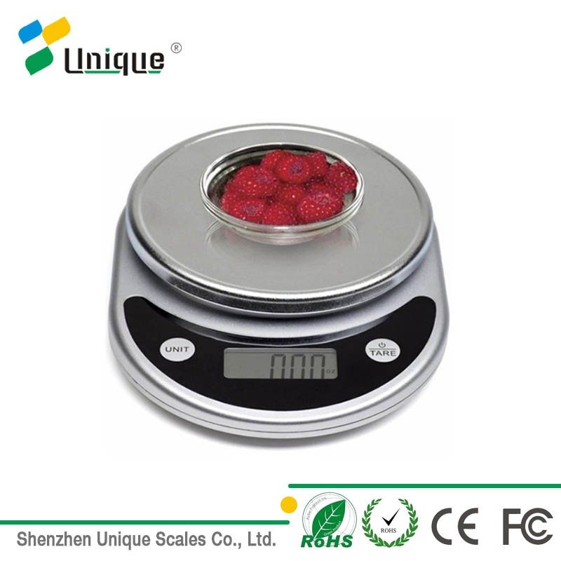 Small chrome plated digital multifunction kitchen and food electronic <strong>scale</strong>