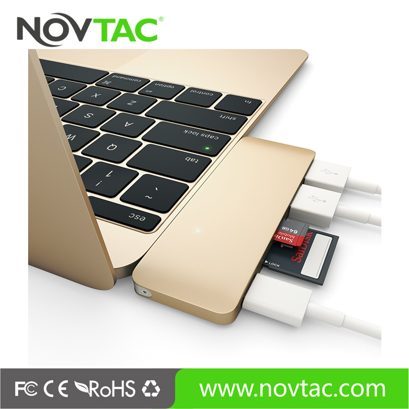 For New Macbook usb hub 3.1 type c with tf card slot