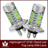Hot-selling H7 5730 LED Fog Light 15 SMD Car LED Fog Lamp Automobile Light Bulbs