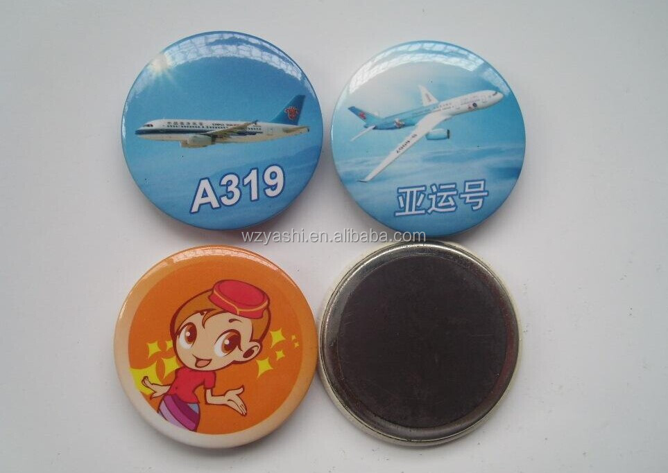Souvenir Custom Round Shape Magnets 50Dia Button magnets Magnetc Icon